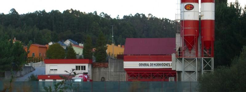 Planta de hormigón en Santiago de Compostela